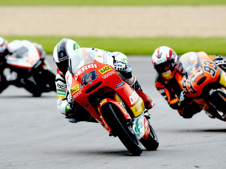 Pol Espargaró in action in Donington