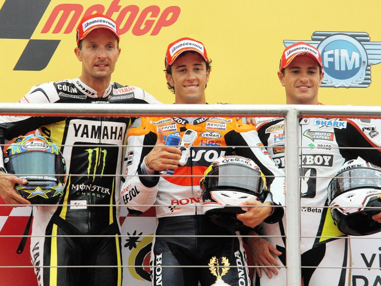 Edwards, Dovizioso and De Puniet on the podium at Donington