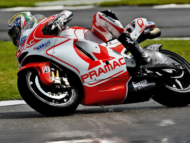 Niccolò Canepa in action in Donington