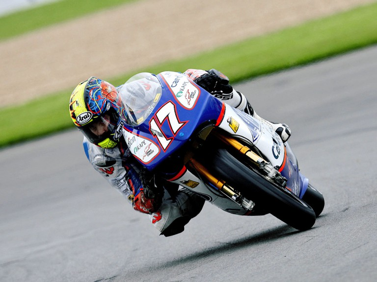 Karel Abraham in action in Donington