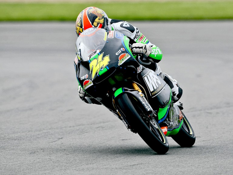 Simone Corsi in action in Donington