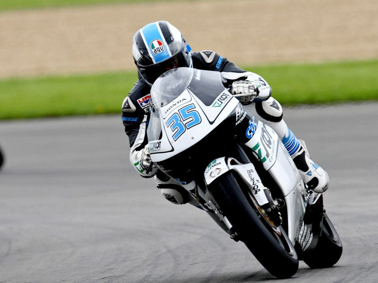 Raffaele de Rosa in action in Donington