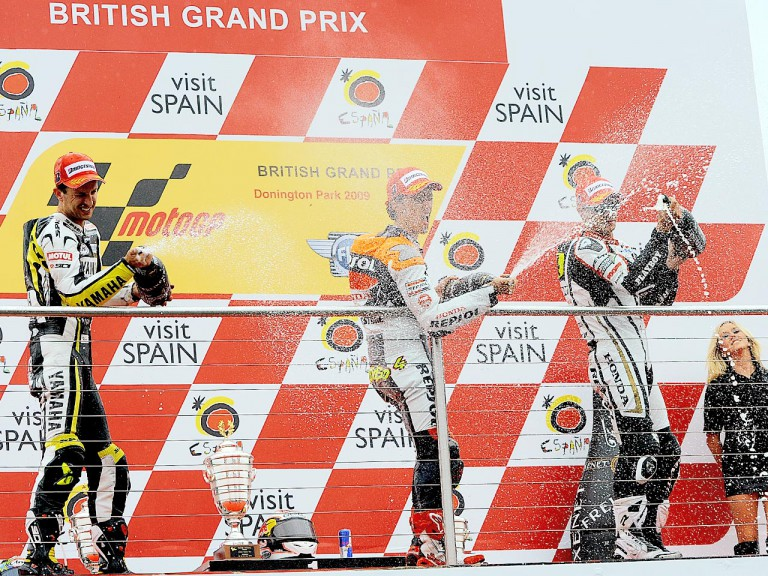 MotoGP Podium at Donington Park