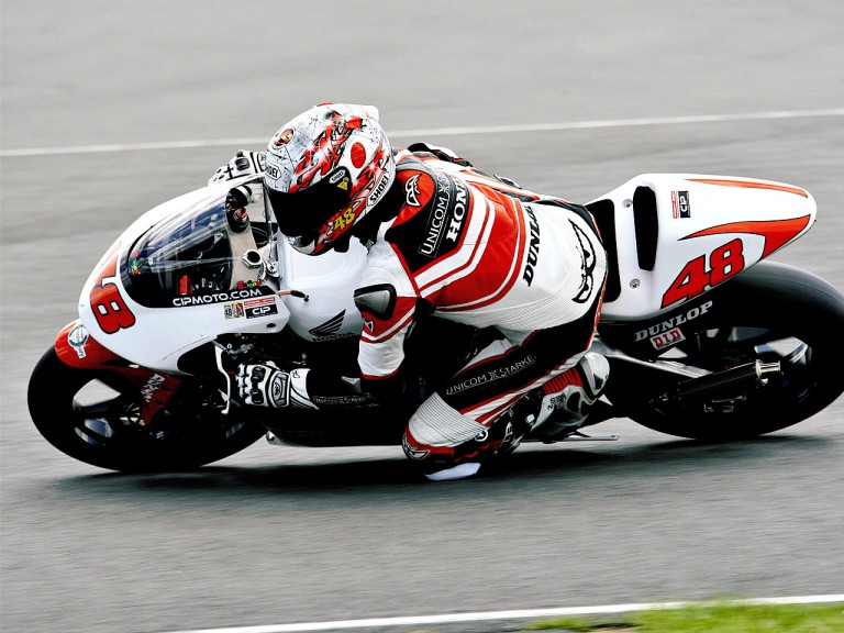 Shoya Tomizawa in action in Donington