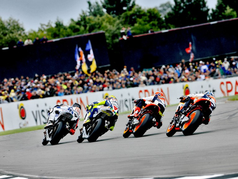 MotoGP Group in action at British GP