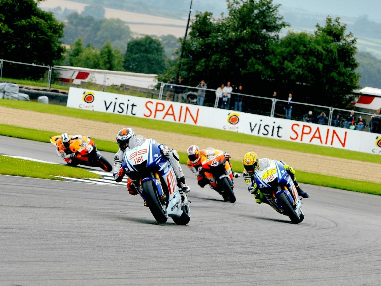 MotoGP Group in action in Donington
