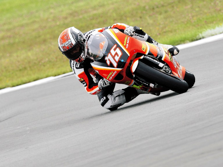 Mattia Pasini in action in Donington