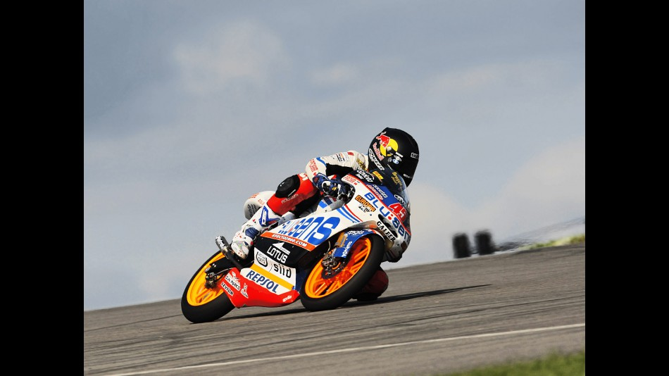Scott Redding in action in Donington