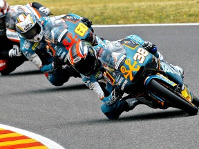 Bancaja Aspar Riders Smith and Simón in action