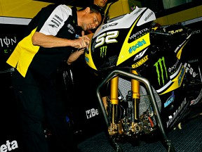 Mechanic at work in the Monster Yamaha Tech3