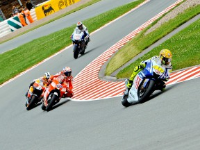 Rossi, Stoner, Pedrosa and Lorenzo on track