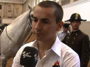 Lorenzo on visiting Spanish Riding School