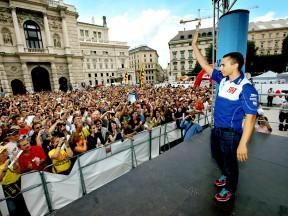 MotoGP riders enjoys Viennese whirl