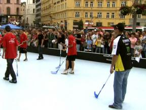 Thursday floorball pre-event in Brno