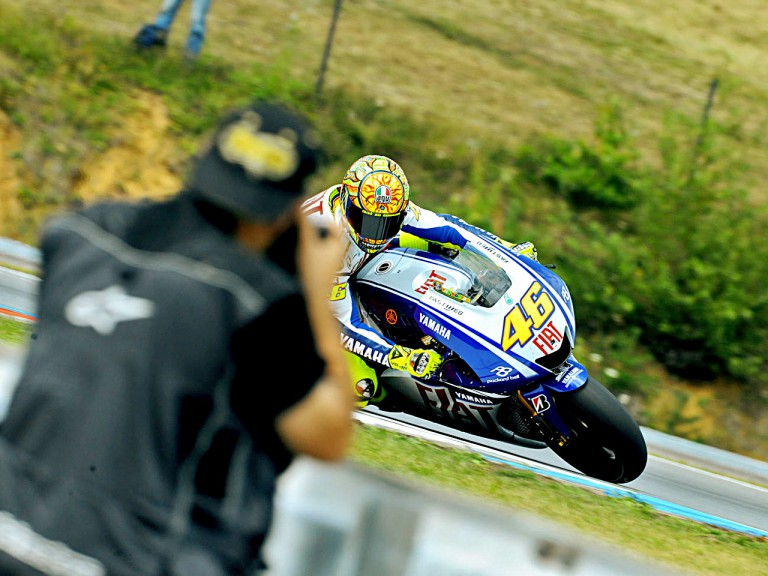 Valentino Rossi in action in Brno