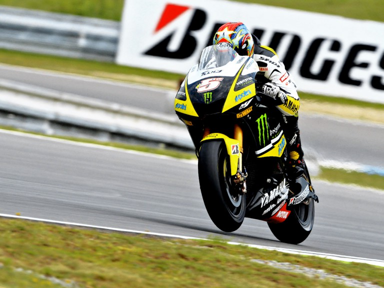 Colin Edwards on track in Brno