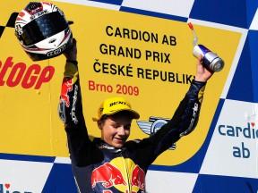 Florian Marino celebrates victory at Brno
