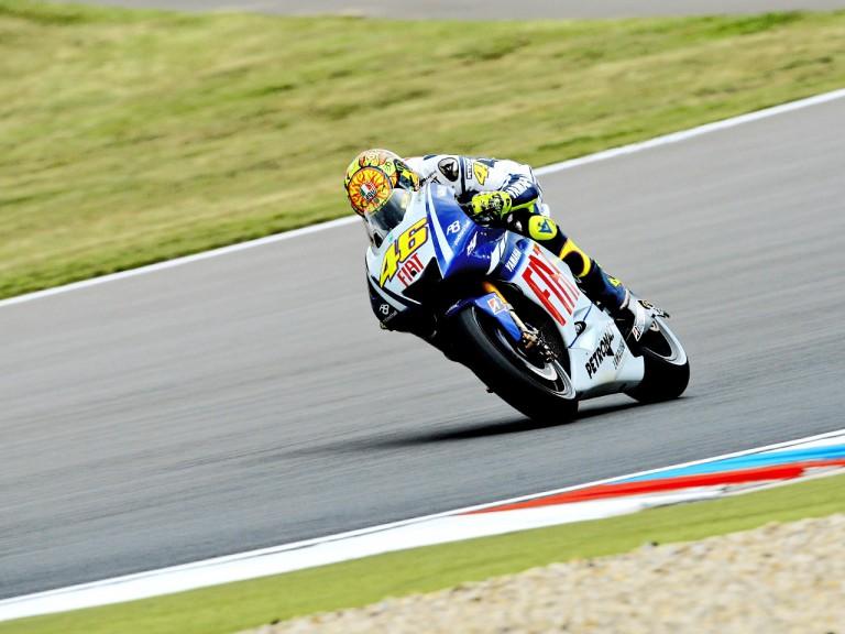 Valentino Rossi in action in Brno
