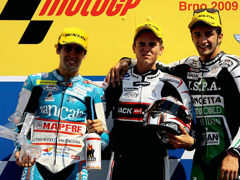Simón, Terol and Iannone on the podium at Brno