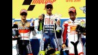 Pedrosa, Rossi and Elias on the podium at Brno