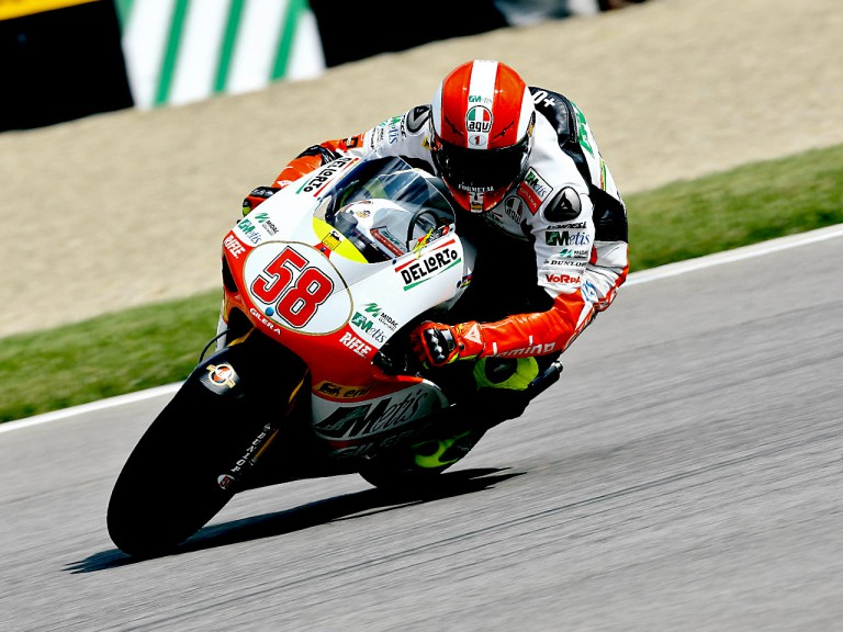 Marco Simoncelli in action in Indianapolis