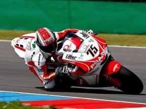 Pasini in action with the Desmosedici GP9 in MotoGP Brno Test
