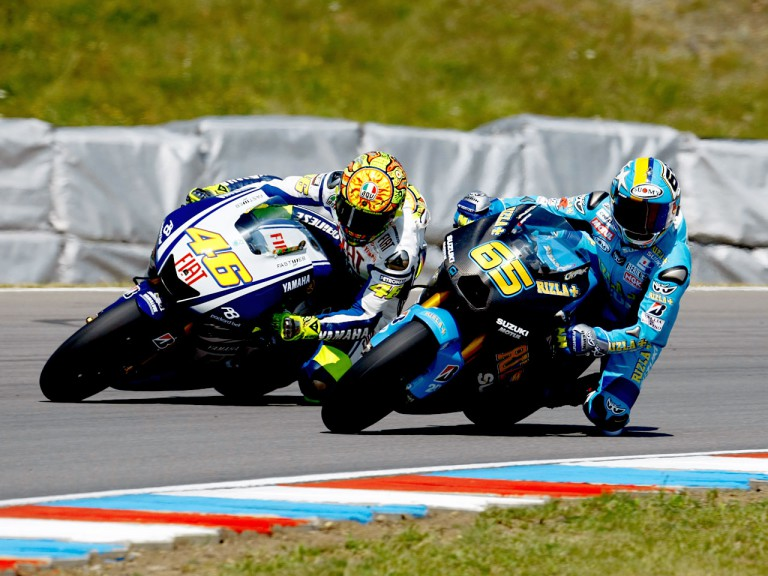 Rossi and Capirossi on track in MotoGP Brno Test