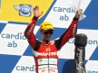 Álvaro Bautista o the podium at Brno