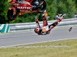 Álvaro Bautista crashes after 250cc race in Brno