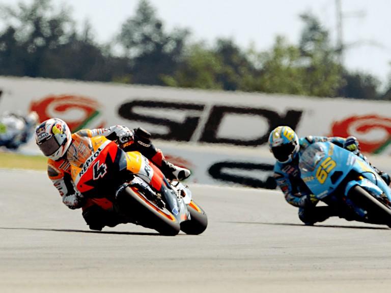 Andrea Dovizioso in action