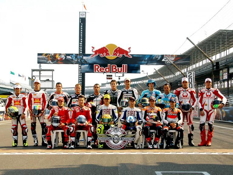 MotoGP riders at Indianapolis Motor Speedway