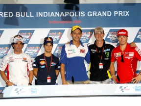 MotoGP riders at the Red Bull Indianapolis Grand Prix