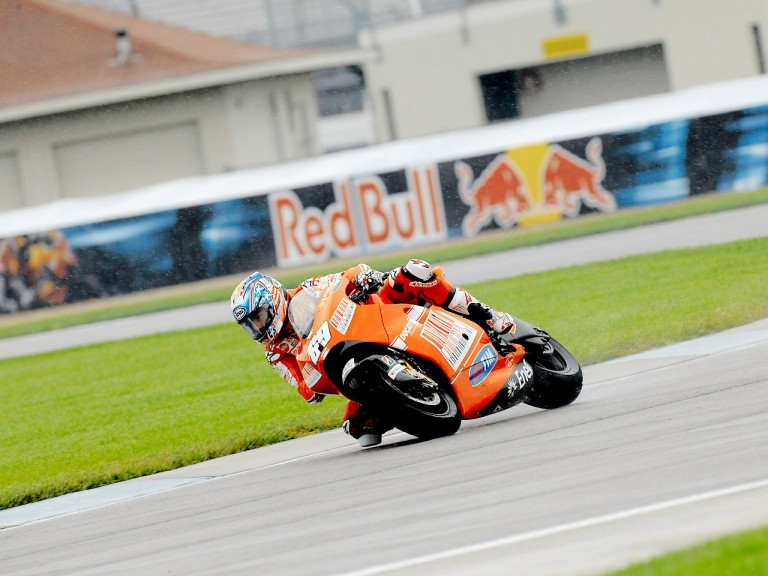 Nicky Hayden in action in Indianapolis