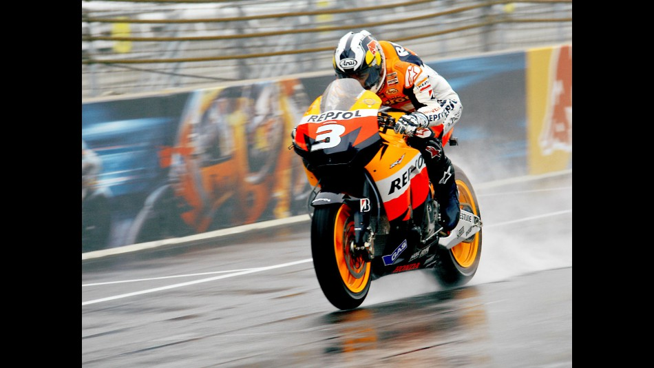 Dani Pedrosa in action in Indianapolis