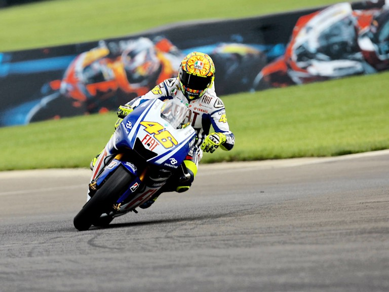 Valentino Rossi in action in Indianapolis