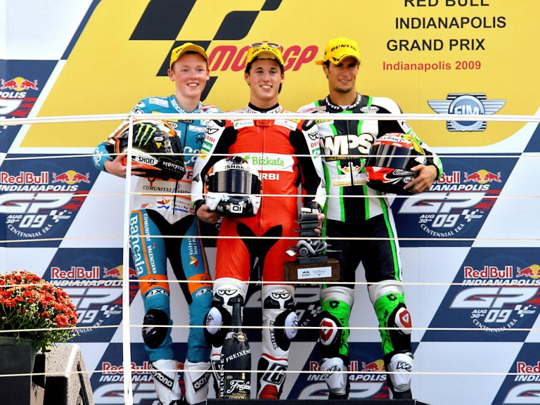 Smith, Espargaró and Corsi on the podium at Red Bull Indianapolis Grand Prix