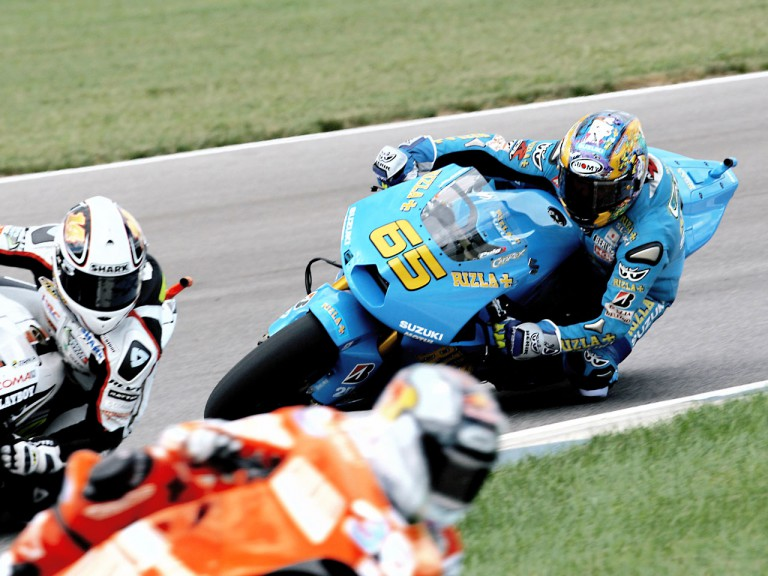 Loris Capirossi in action in Indianapolis
