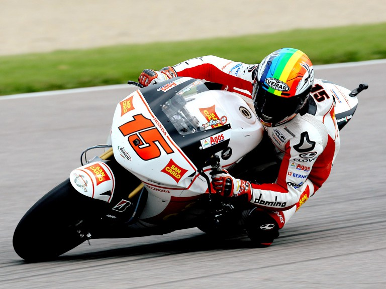 Alex de Angelis in actioni n Indianapolis