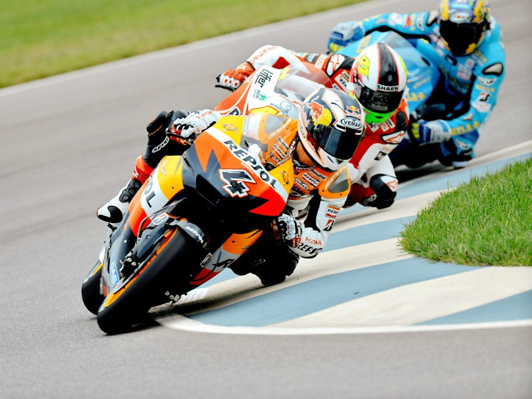 Dovizioso, Espargaró and Capirossi in action in Indianapolis