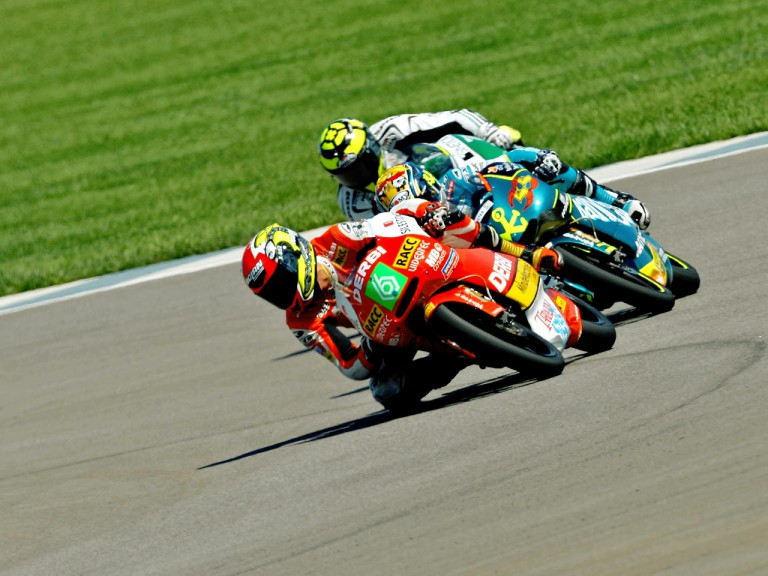 125cc Group in action in Indianapolis