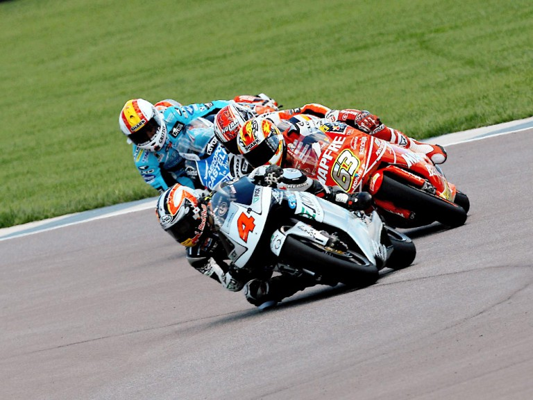 250cc Group in action in Indianapolis
