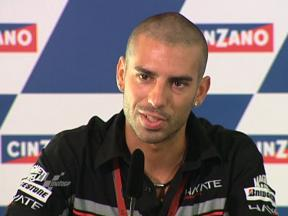 Melandri at the pre-event press conference