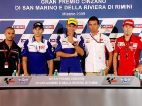 MotoGP riders at Misano press conference
