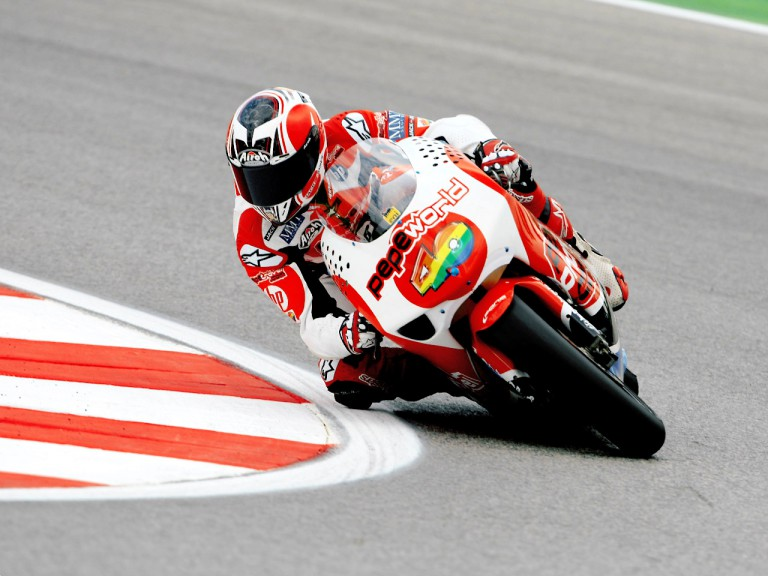 Héctor Barberá in action in Misano