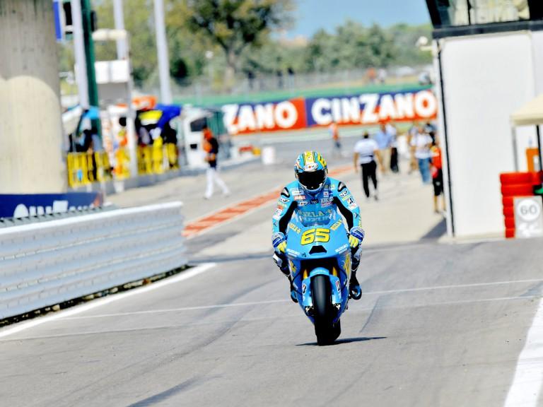 Loris Capirossi in the pit lane in Misano