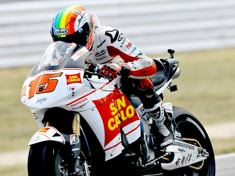 Alex de Angelis in action in Misano