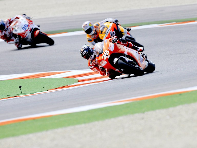 Kallio and Dovizioso in action in Misano