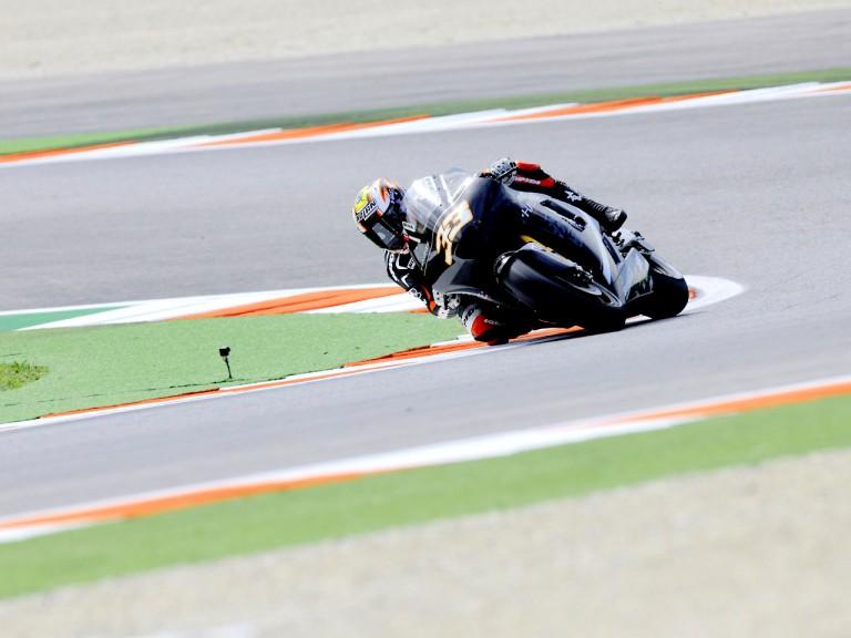 Marco Melandri in action in Misano