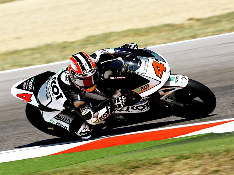 Hiroshi Aoyama in action in Misano