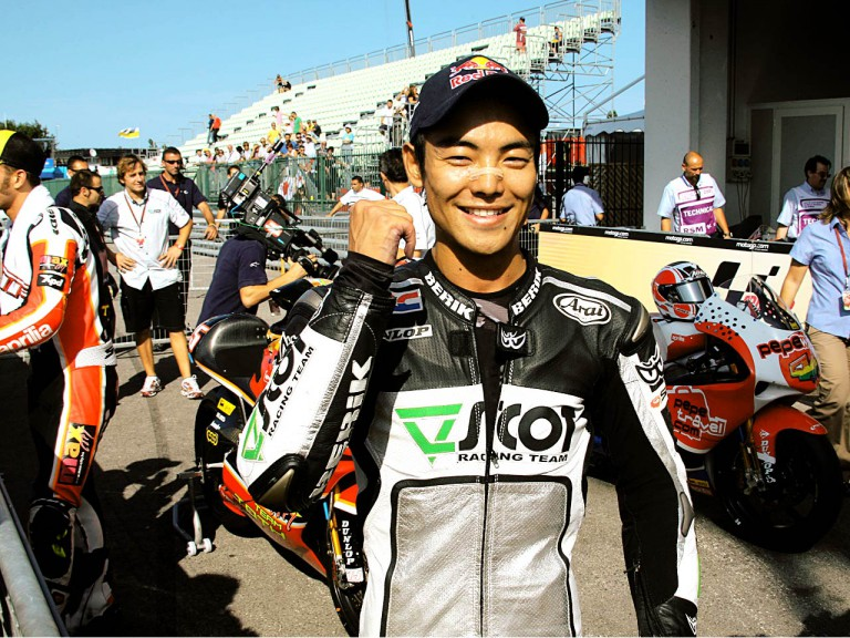Hiroshi Aoyama in the parc fermé after QP in Misano
